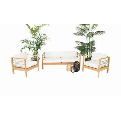 Bendel Teak 4 Piece Sofa Set With Cushions