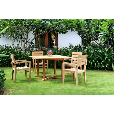 Vang Teak 5 Piece Dining Set
