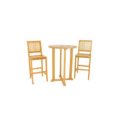 Balster Teak 3 Piece Bar Set