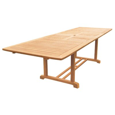 Clatterbuck Rectangular Extendable Teak Dining Table