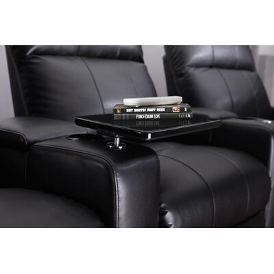 Home Theater Recliner Row of 4 Color: Black