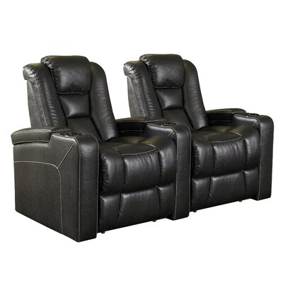 Home Theater 2 Seater Group Upholstery: Black