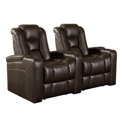 Home Theater 2 Seater Group Upholstery: Jamestown Brown