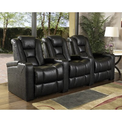 Home Theater 3 Seater Group Upholstery: Black LTDR2573 40221465