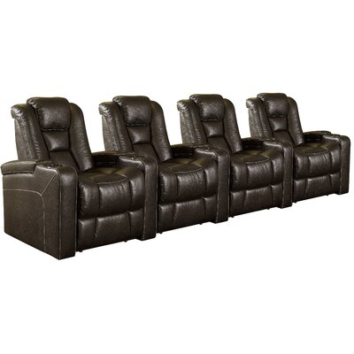 Evolution Home Theater 4 Seater Group Upholstery: Jamestown Brown