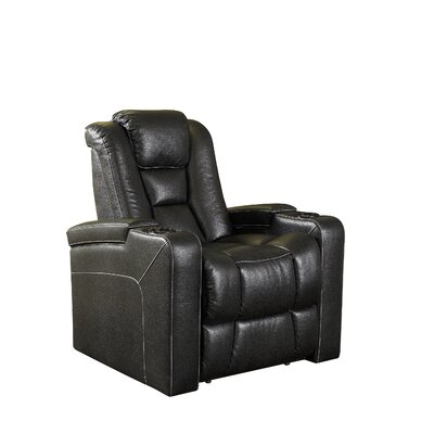 Bourdon Home Theater Seating Recliner Upholstery: Black