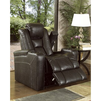 Bourdon Power Wall Hugger Recliner Upholstery: Jamestown Brown