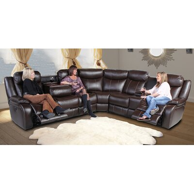 Earnest Home Entertainment Reclining Sectional