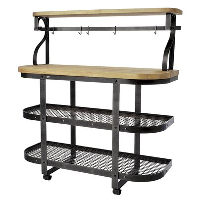 Premier Kitchen Cart with Butcher Block Top