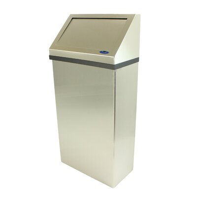 Wall Mounted Waste Receptacle Finish: Stainless Steel
