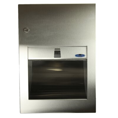 Recessed Stainless Steel Paper Towel Dispenser