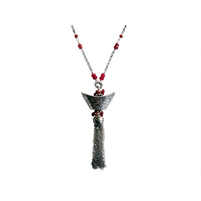 Vivian Yang Sterling Silver Gemstone Chinese Wealthy Charm Necklace