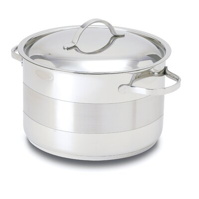 Gourmet Stainless Steel Round Dutch Oven Size: 7-qt. POTC24