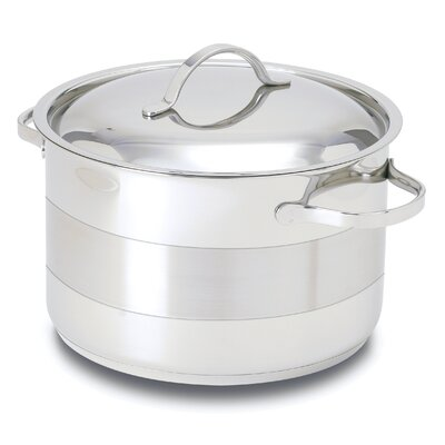 Gourmet Stainless Steel Round Dutch Oven Size: 8.5-qt. POTC26