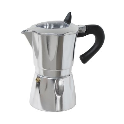 Aluminum Vista Espresso Coffeemakers with Window Size: 3 Cup COFWD3