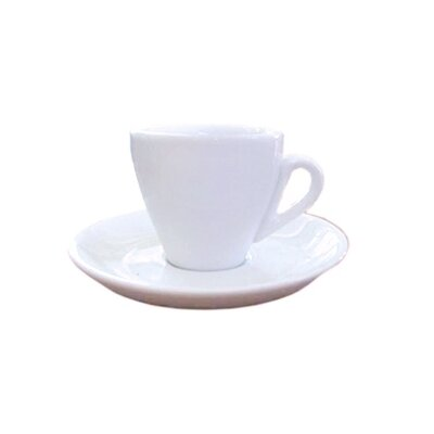 Cuisinox Espresso 12 Piece Cup and Saucer Set in White Porcelain