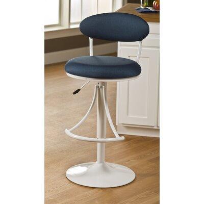 Venus 24 Adjustable Swivel Bar Stool Upholstery Color: Denim Fabric