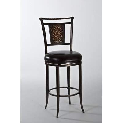 Parkside 26 Swivel Bar Stool with Cushion Color: Copper