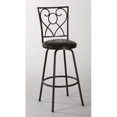 Bellesol Adjustable Height Swivel Bar Stool with Cushion
