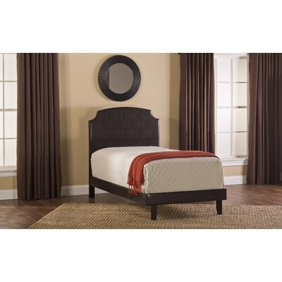 Lawler Upholstered Panel Headboard Size: Twin, Finish: Dark Brown
