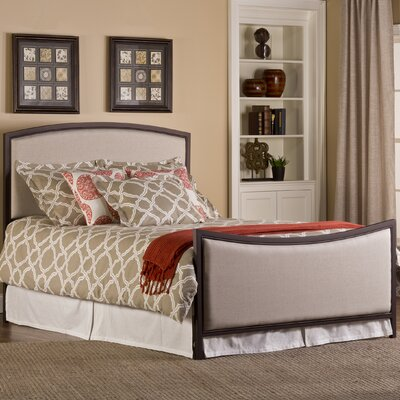 Bayside Upholstered Panel Bed Size: Twin, Color: Bronze