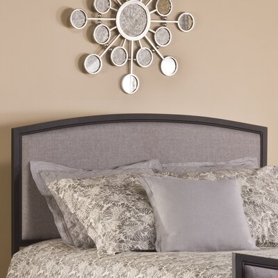 Bayside Upholstered Panel Headboard Size: Full / Queen, Color: Black
