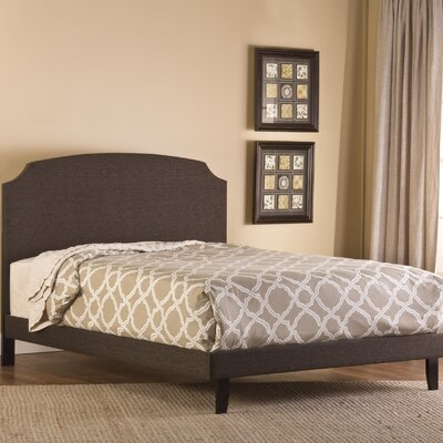 Lawler Upholstered Panel Bed Size: King, Finish: Dark Brown