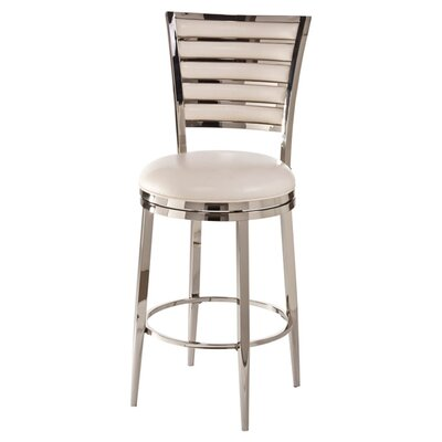 Rouen 30 Swivel Bar Stool with Cushion Color: Ivory