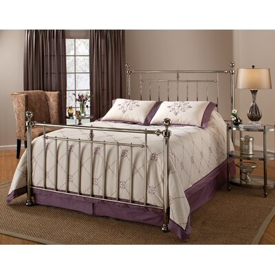 Holland bed in shiny nickel size twin furnitalk webstore for Black shiny bedroom furniture