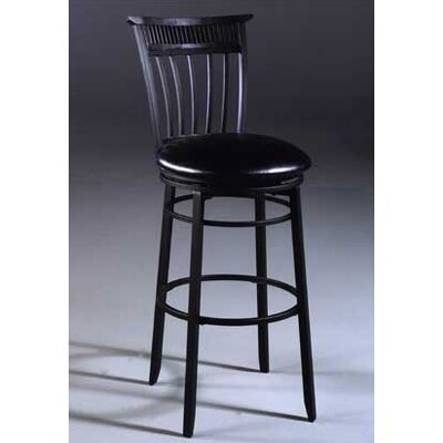 Cottage 26 Swivel Counter Height Stool Finish: Rubbed Black