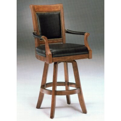 Hillsdale Kingston Game Swivel Leather Back Barstool