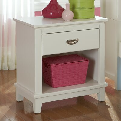 Bailey 1 Drawer Nightstand Finish: White