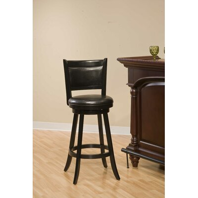 In store financing Dennery Swivel Bar Stool in Black...