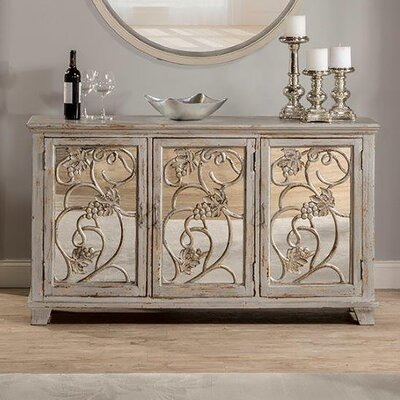 Malbec Decorative Mirrored Console Table Finish: Rubbed Gray