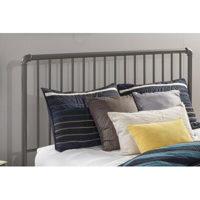 Cade Slat Metal Headboard Size: Queen, Finish: Stone