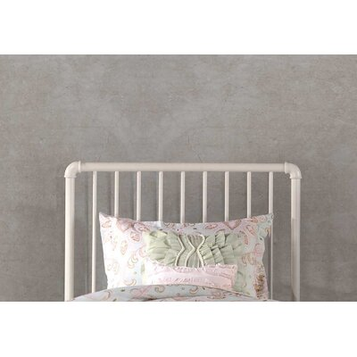 Jessie Industrial Slat Headboard Size: Twin, Color: White