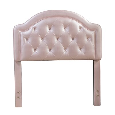 Krista Upholstered Panel Headboard Finish: Pink, Size: Twin