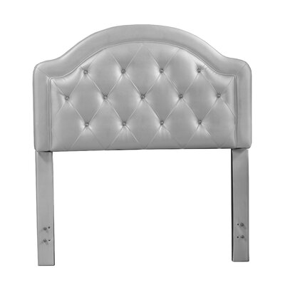 Cindy Wood Frame Panel Headboard Size: Full, Color: Silver