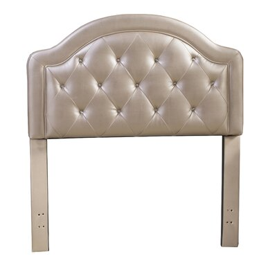 Krista Faux Leather Panel Headboard Finish: Champagne, Size: Twin