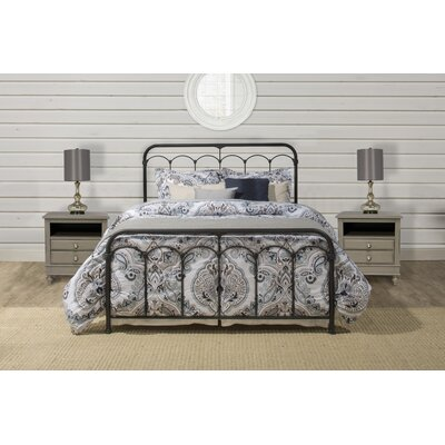 Calana Metal Panel Bed Size: King