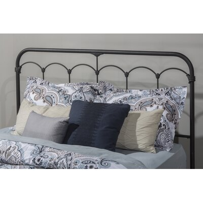 Calana Black Speckled Open-Frame Headboard Size: Queen