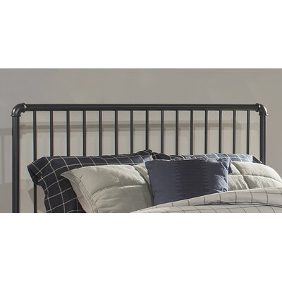 Jessie Industrial Slat Headboard Size: Queen, Color: Navy