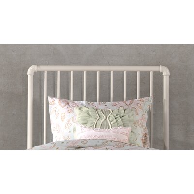 Cade Slat Metal Headboard Size: Twin, Finish: White