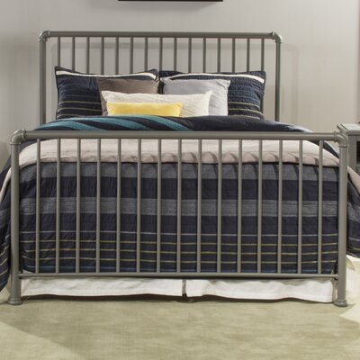 Jessie Sleigh Bed Size: Full, Color: Stone