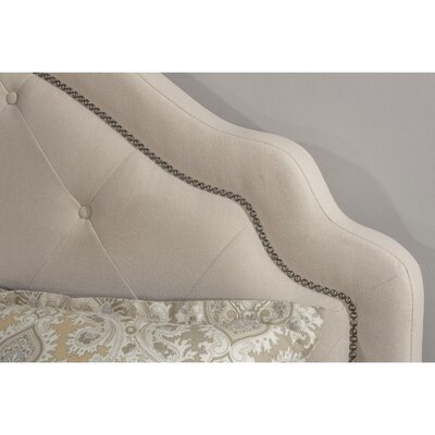 Broughtonville Upholstered Panel Headboard Size: Queen, Upholstery: Light Beige