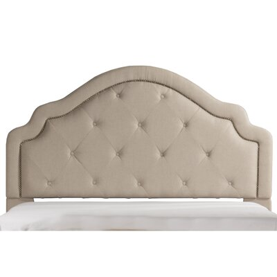 Broughtonville Tufted Upholstered Panel Headboard Size: Queen, Upholstery: Natural