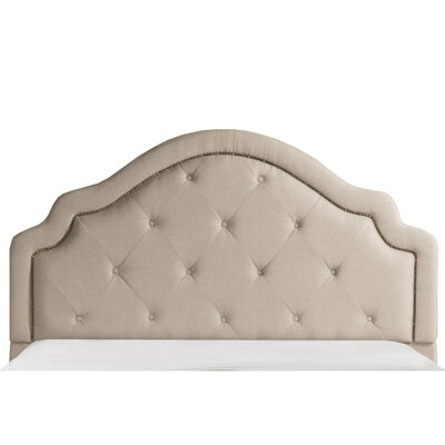 Broughtonville Tufted Upholstered Panel Headboard Size: Queen, Upholstery: Light Beige