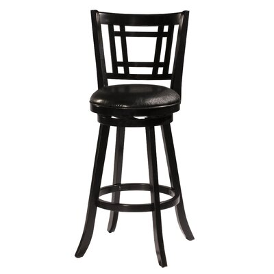 Mersin 25 Swivel Bar Stool Color: Black