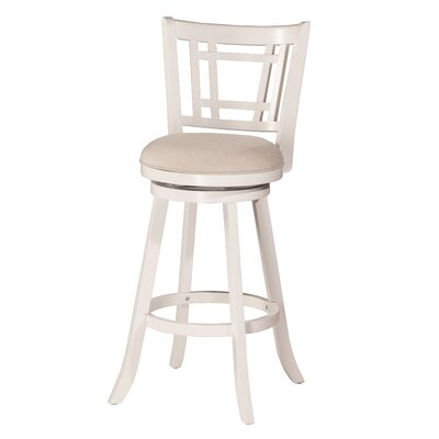 Mersin 25 Swivel Bar Stool Color: White