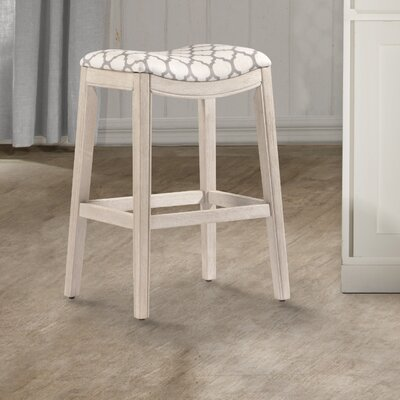 Hebron Bar Stool Color: White